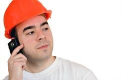 Operaio di costruzione isolato Fotografie Stock