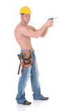 Operaio di costruzione macho Fotografie Stock Libere da Diritti