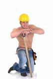Operaio di costruzione macho Immagini Stock Libere da Diritti