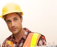 Operaio di costruzione sul job Immagine Stock