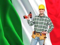 Operaio italiano fotografia stock