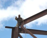 Operaio siderurgico strutturale Fotografia Stock