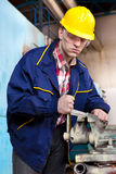 Operaio sul job Fotografia Stock Libera da Diritti