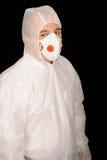 Operaio in vestito protettivo fotografia stock