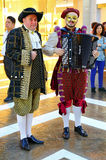 Operakunstenaars bij het Venetiaanse hotel, Macao Stock Foto