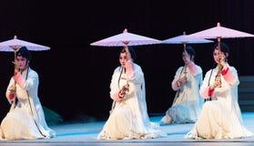 """ Opera""""Madame белое Snake†рассказа-Kunqu зонтика Стоковая Фотография RF"""
