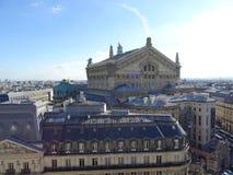 Operan Garnier som ses från taken av Paris Royaltyfria Foton