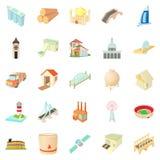 Operand icons set, cartoon style. Operand icons set. Cartoon set of 25 operand vector icons for web  on white background Royalty Free Stock Image