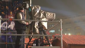 Operatör för TVkamera arkivfilmer