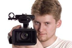 operatörsvideo Arkivfoto