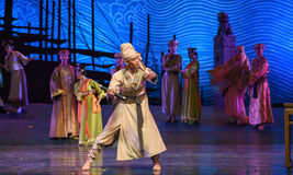 """Operate an abacus-Dance drama """"The Dream of Maritime Silk Road"""". Dance drama """"The Dream of Maritime Silk Road"""" centers on the plot of two Stock Photo"""