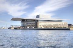 Operateatern är i stadsKöpenhamn Royaltyfri Foto