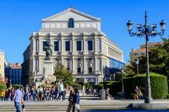 Operateatern i Madrid Arkivbild