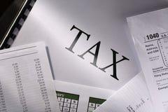 Calendar and tax Stock Photos