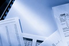 Operating budget and calendar Stock Image