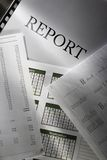 Operating budget and report Stock Image