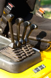 Operating levers on a forklift truck Royalty Free Stock Images