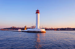 Operating lighthouse in Odessa Royalty Free Stock Photo