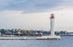 Operating lighthouse. Odessa. Ukraine. Royalty Free Stock Photos