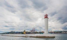 Operating lighthouse. Odessa. Ukraine. Royalty Free Stock Photography