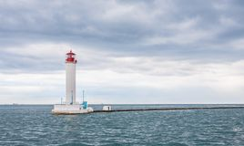 Operating lighthouse. Odessa. Ukraine. Stock Photos
