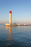Operating lighthouse in Odessa. Ukraine. In the evening. Black sea royalty free stock images