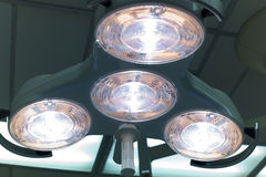 Operating Lights. Bright lights to illuminate the operating field in the OR Royalty Free Stock Photos