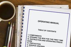 Free Operating Manual Stock Photos - 90604183