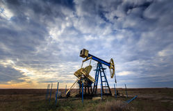 Operating oil and gas well Stock Image
