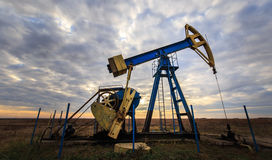 Operating oil and gas well Royalty Free Stock Photo