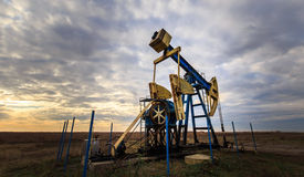 Operating oil and gas well Royalty Free Stock Image