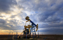 Operating oil and gas well Royalty Free Stock Photography