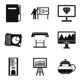 Operating regime icons set, simple style. Operating regime icons set. Simple set of 9 operating regime vector icons for web isolated on white background Royalty Free Stock Image