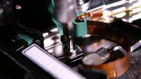 Hard drive internal. Operating and repair of  hard disk internals stock footage