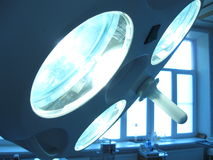 Operating-room. Lamp in the operating-room stock image