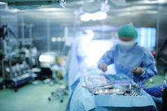 Operating room. Blurred medical background Royalty Free Stock Photo