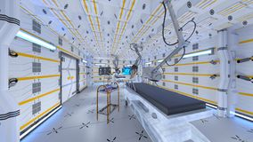 Operating room. 3D CG rendering of the operating room Stock Photos