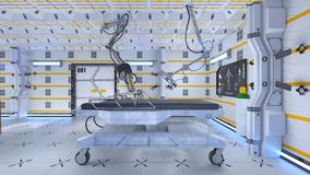 Operating room. 3D CG rendering of the operating room Stock Photo
