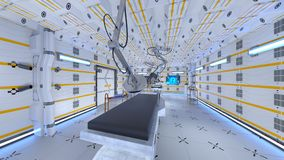 Operating room. 3D CG rendering of the operating room Stock Images