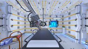 Operating room. 3D CG rendering of the operating room Royalty Free Stock Image