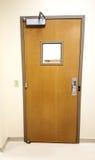 Operating room door. Hospital surgery room door closed Royalty Free Stock Image