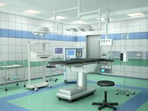 Operating room with equipment. 3d illustration Stock Images
