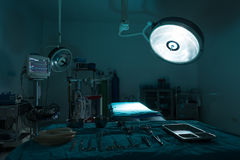 Operating room with equipment Royalty Free Stock Photos
