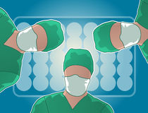 Operating room surgery Stock Photo