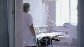 Operating room before surgery stock footage