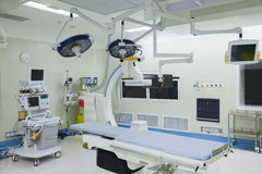 Operating room with surgical equipment, hospital, Beijing, China stock photo