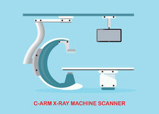 Operating room with X ray medical scan. Stock Image