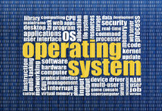 Operating system word cloud Stock Photos