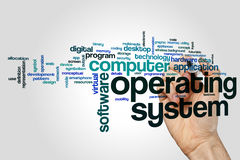 Operating system word cloud stock photos