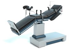 Operating Table. 3d illustration of an operating table Royalty Free Stock Images